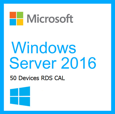 Microsoft Windows Server 2016 RDS 50 USER / DEVICE Remote Desktop Service Cals