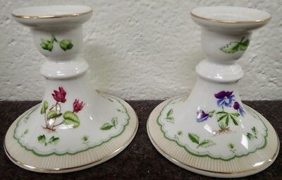 """Georges Briard Private Collection VICTORIAN GARDEN  PAIR of CANDLESTICKS 3 3/4"""""""