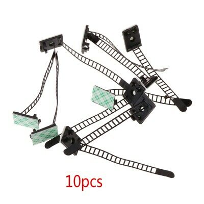 10 PCS Adjustable Self-Adhesive Cable Straps Self-Locking Cable Organizer Holder