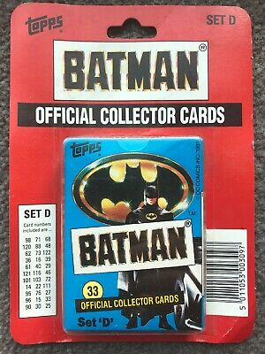 Topps Ireland Batman 1989 Sealed Collector Card Set