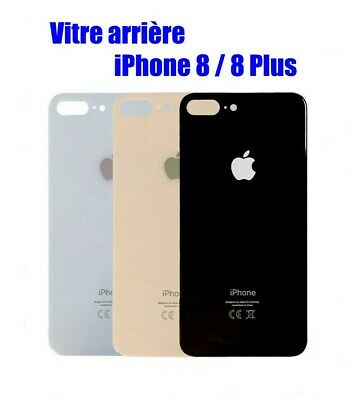 Vitre Arriére Iphone 8 / Iphone 8 Plus - Noir / Or / Blanc / Rouge