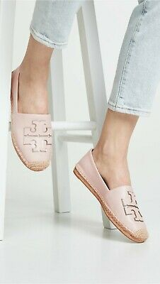 364d10c29 NIB  228 TORY BURCH Ines Sea Shell Pink Leather Espadrilles Sz 9+Dust Bag