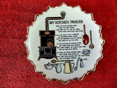 MY KITCHEN  PRAYER  WALL  PLATE  MADE  IN  JAPAN   18cm.