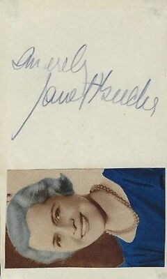 1930s Character Actress JANET BEECHER Signed Card - THE LADY EVE, MARK OF ZORRO