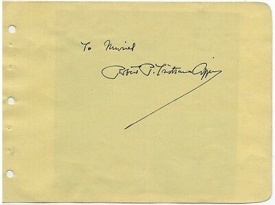 Great Pulitzer Prize Winning Poet ROBERT PETER TRISTRAM COFFIN Signed Album Page