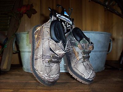 00f914ea9a5dd Garanimals Realtree Boys Toddler Camouflage Boots Size 5 Kids Casual Shoes  New