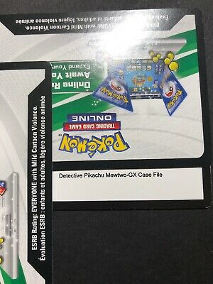 Mewtwo GX Pokemon Detective Pikachu Case File Online Code Card Promo SM196 New!