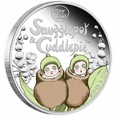SALE NEW Perth Mint Snugglepot & Cuddlepie™ 2016 1/2oz Pure Silver Coin