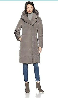 953ea0b72 COLE HAAN WOMEN'S Taffeta Down Coat W/ Bib Front and Dramatic Hood ...
