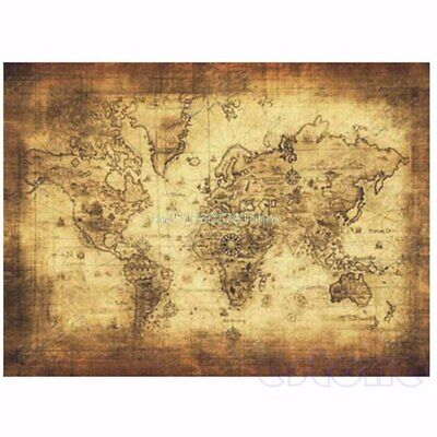 WORLD MAP VINTAGE ANTIQUE STYLE GIANT POSTER (71x51cm)