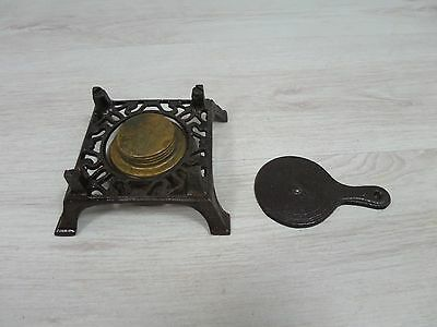 Antique Ornate Cast Iron Victorian Gas Perfect Rare Stove Burner Old Portable