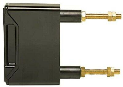 Alstom BACK WIRE CONNECTED FUSE HOLDER 1-Pole 100A For TCP, 2xStud Mount, Black