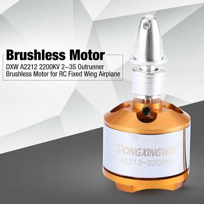 DXW A2212 2200KV 2-3S Outrunner Brushless Motor for RC Fixed Wing Airplane TQ