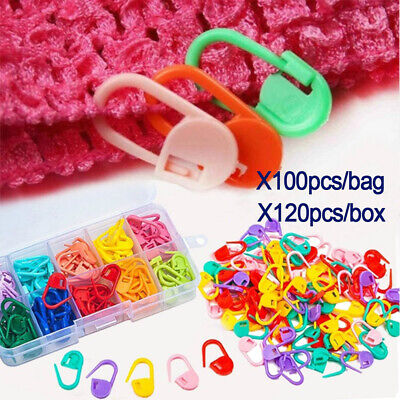 Plastic Knitting Crochet Locking Stitch Needle Clip Amazing Markers Holder Tool