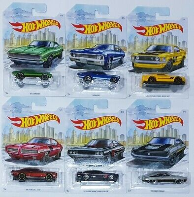 /'70 Ford Torino Detroit Muscle Car Series 6//6 1:64 Hot Wheels FYY14 GDG44