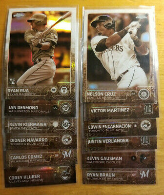 2015 Topps Chrome Sepia Refractors Fill your set you pick choice 3.33 flat ship