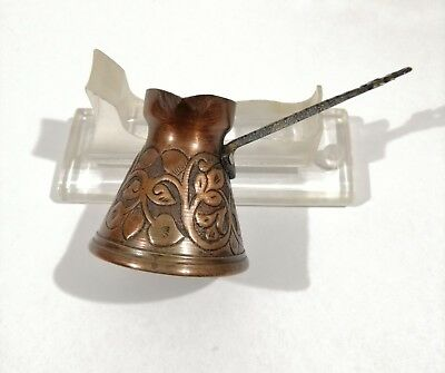 Vintage Handcrafted Islamic Turkish Bronze Brass Copper Tin Serving Coffee Pot