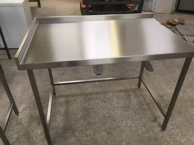 1240x800  Stainless steel wall bench with full void
