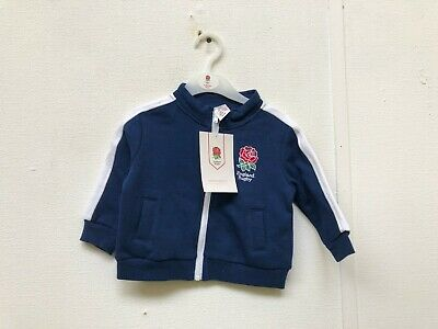 England Rugby RFU Kid's Logo Track Jacket - 6-9 Months - Navy - New With Defect