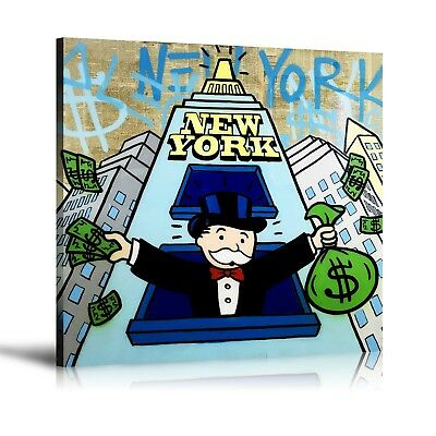 Alec Monopoly HD Print Oil Painting Home Decor Art On Canvas Conquers New York