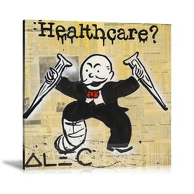 Alec Monopoly HD Print Oil Painting Home Decor Art On Canvas Health Care
