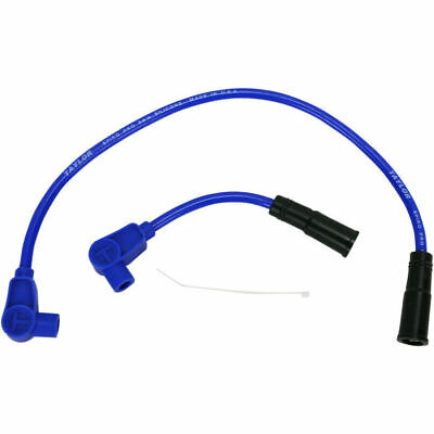 Taylor Ignition Leads Spark Plug Wires Blue for Harley-Davidson Softail 2008-17