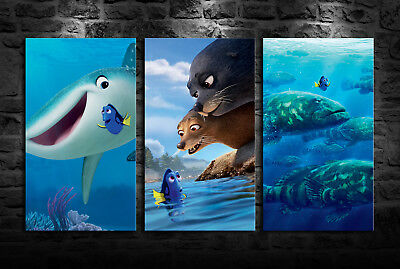HD Printed Oil Painting Home Wall Art On Canvas Finding Nemo 3PCS Unframed