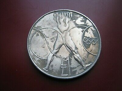 Cyprus coinage 1988 Seoul Olympics £1 One Pound Coin
