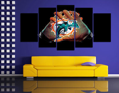 HD Printed Sports Oil Painting Home Wall Decor Art On Canvas Miami Dolphins