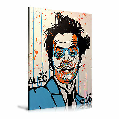 Hand-painted Alec Monopoly Oil Painting On Canvas Jack Nicholson 24x36inch
