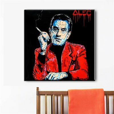Hand-painted Alec Monopoly Oil Painting on Canvas Scarface 24x24inch Unframed