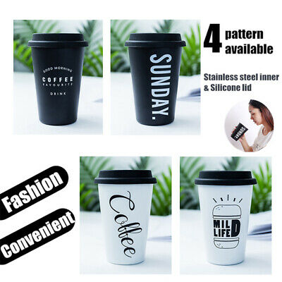 Stainless Steel Mug Portable Travel Tumbler Coffee Ice Cup With Drinking Lid AU