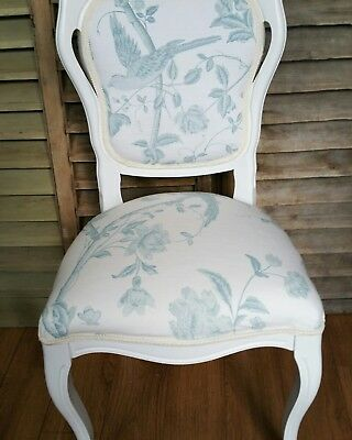 french style louis chair in Laura Ashley summer palace duck egg