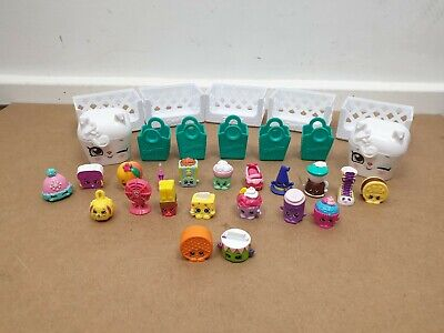 Shopkins x20 Mixed Season with Bag and Baskets Bundle 1