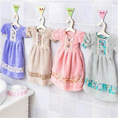 Coral Velvet Cute Dress Thickening Practical Absorbent Shower Towel ONE