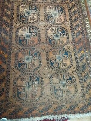 Middle Eastern 19th  Century Woollen Hand Knotted Rug