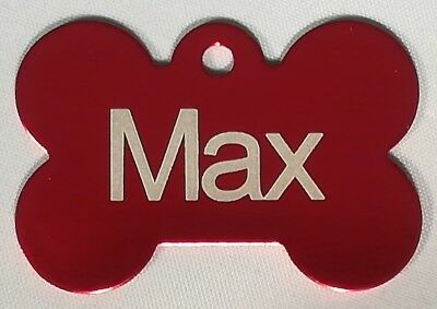 Bone Shaped PET ID TAGS Personalised Name Tag For Collar Pet Tags Free Postage