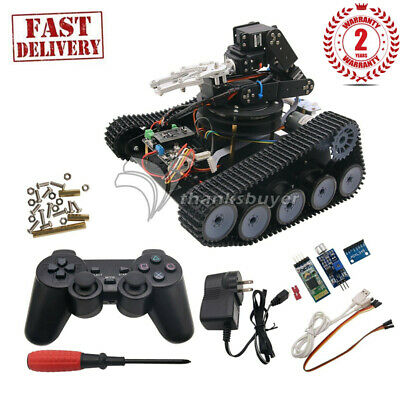 Robot Tank Car Open Source 6DOF Mechanical Arm Tracking Gripping Support PS2/APP