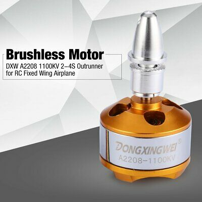 DXW A2208 1100KV 2-4S Outrunner Brushless Motor for RC Fixed Wing Airplane 5C