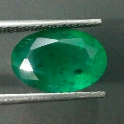 GENUINE 3CT ZAMBIAN emerald pear cut freshwater pearl solid