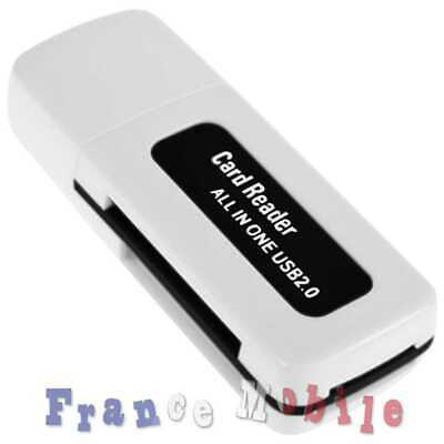 Lecteur Carte Memoire Usb 4 In 1 Sdhc Mmc Microsd Tf Micro Sd Ms Pro Duo M2 Lila