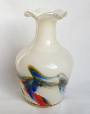 RETRO White Glass Vase