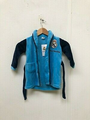 Real Madrid CF Kid's Club Dressing Gown - 18 Months - Blue - New With Defects