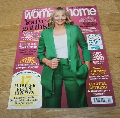 Woman & Home magazine MAY 2019 Louise Minchin, Amazing Women Awards, Recipes &