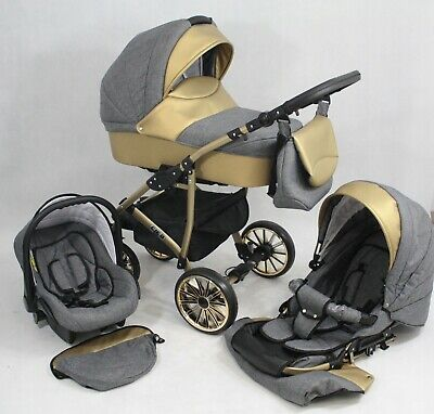 New Baby Mito Lux  Pram Pushchair Buggy Stroller+Car Seat Travel System 3in1