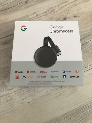GOOGLE Chromecast 3 Streaming Player, 3. Generation , Karbon Neu & OVP