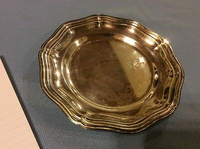 "Vintage 6""  Silver Plated Candy Dish"
