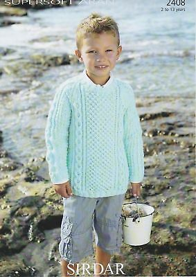 Pattern No 2362 Age 4 to 13 Years Sweaters Sirdar Supersoft Aran