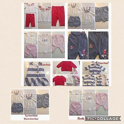 Baby Girls Clothes Bundle Tops Dresses Cardigans Leggings Sets 0-3M NEXT Immacul