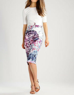 9135a839 NEW Ted Baker Stephie Illuminated Bloom Contrast Tailored Bodycon Dress £179
